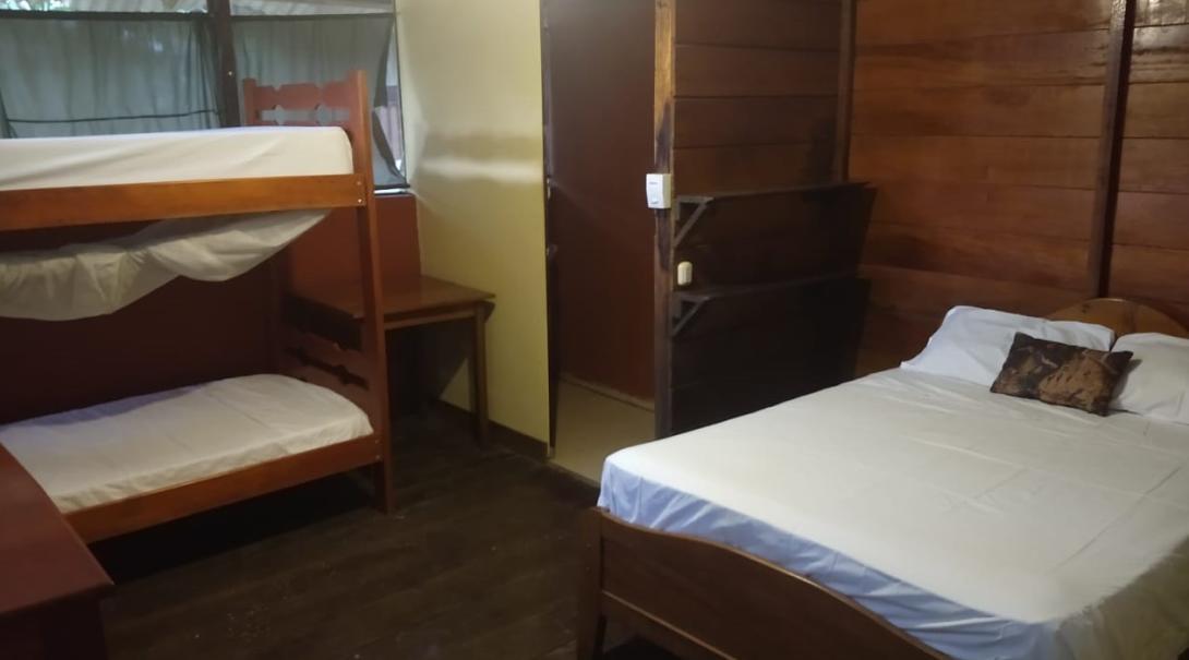Bunk beds at Taricaya